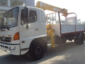 Xe tải Hino FG8 JPSB gắn cẩu Soosan SCS506 5 tấn