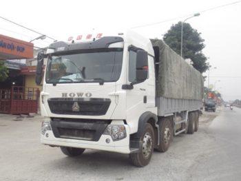 Xe tải thùng khung mui Howo 375